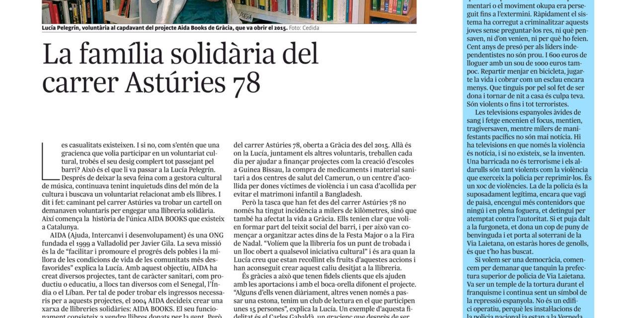 La família solidària del carrer Astúries 78 – L'INDEPENDENT DE GRÀCIA