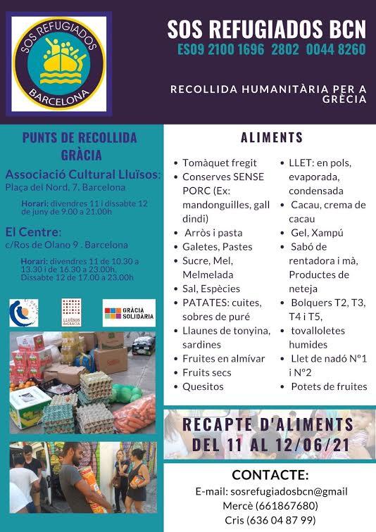 Cartell Recollida Humanitària per Grècia